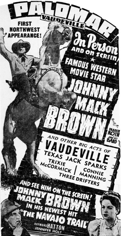 Johnny Mack Brown- 1945, Seattle, Washington.