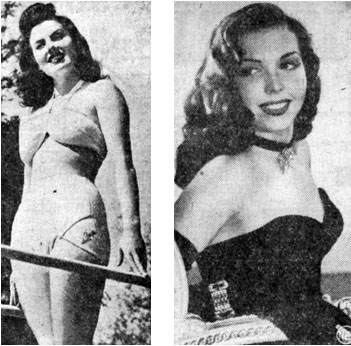 Sheila Ryan (left) and Ann Miller in January 1946.