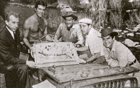 "The cast and crew presented Hugh O'Brian a huge birthday cake during the filming of ""The Fiend Who Walked the West"" ('58). (Thanx to Terry Cutts.)"
