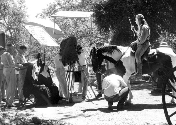 "The camera crew sets up a shot with Cochise (Michael Ansara) for ""Broken Arrow: The Sisters"" (1958). (Thanx to Neil Summers.)"