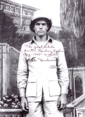 "Kelo Henderson's inscription describes the picture. Kelo was Ranger Clint Travis on ""26 Men"" '57-'59."