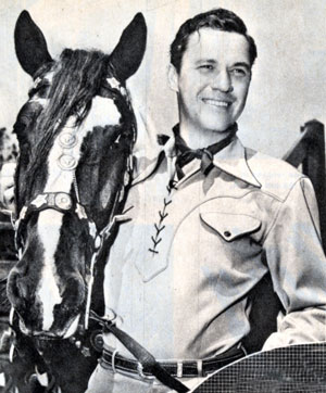 Publicity shot of Kirby Grant who was starring in Universal Westerns in 1946.