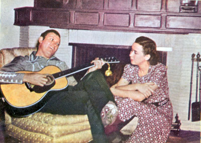 Gene and Ina home from the range circa 1940.