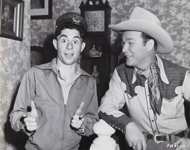 "Roy with Carl ""Alfalfa"" Switzer. (Thanx to Jerry Whittington.)"