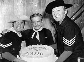 "Anyone have an idea why Larry Storch and Forrest Tucker would be presenting Bob Steele (Trooper Duffy on ""F-Troop"") a cake saying ""Remember the Alamo""?"