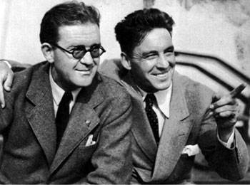 Good friends...director John Ford and actor George O'Brien.