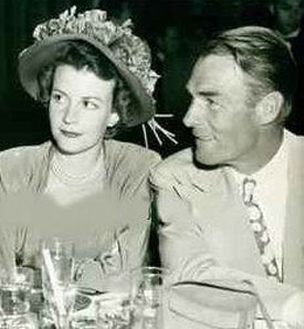 Randolph Scott with his wife Patricia Stillman. They were married March 3, 1944.