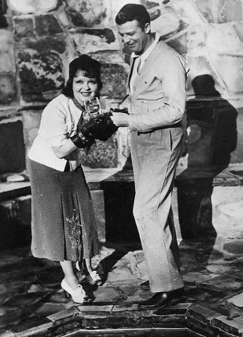 Rex Bell and wife Clara Bow.