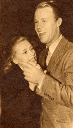 Warner Bros. stars Priscilla Lane and Wayne Morris share a dance in 1938.