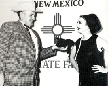 "In 1965 at the New Mexico State Fair in Tingley Coliseum, Ken Curtis subbed for a ailing Roger Miller and brought the house down with his own version of ""King of the Road"". The same year Amanda Blake (below) is shown with her prize winning hen at the fair."