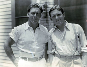 George O'Brien and Spencer Tracy in 1932.