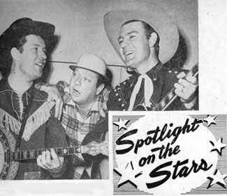 Smokey Rogers, Deuce Spriggens and Tex Williams circa 1950 from COUNTRY SONG ROUNDUP.