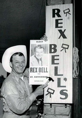 Rex Bell does a little electioneering in 1955. Bell was Nevada Lt. Governor from 1955-1962. (Thanx to Bobby Copeland.)