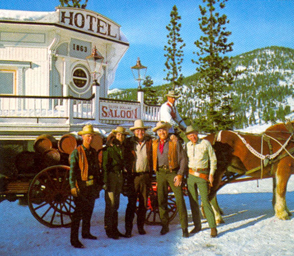 Wintertime at Incline Village, Lake Tahoe, NV, Ponderosa Ranch with Michael Landon, Dan Blocker, Lorne Greene and others.
