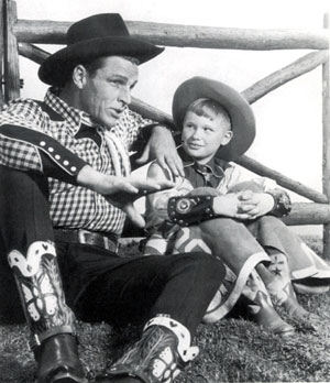Buster Crabbe with son Cuffy in 1952.