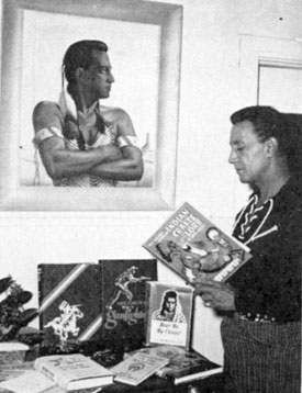 The gun behind so many Hollywood heroes..technical fastdraw coach, full blood Chickasaw Indian Rodd Redwing at home in 1960.