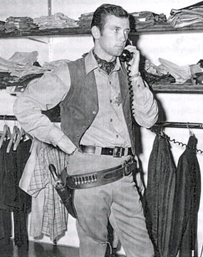 "TV's ""The Deputy"", Allen Case, tends to his other business interests between scenes."