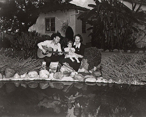 Roy Rogers' early years at home with baby Cheryl and second wife Arline.