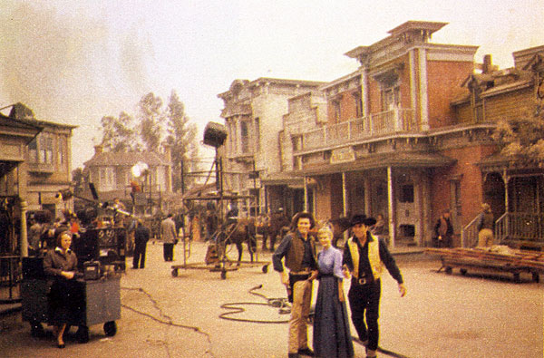 "Four different TV Westerns all filmed by Revue Productions on the old Republic Western Street. ""Cimarron City"" with John Smith, Audrey Totter and George Montgomery."