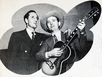 I would liked to have heard this duet! Sherlock Holmes...Basil Rathbone...and Jimmy Wakely sing a duet while recruiting blood doners at a Lockheed Aircraft luncheon in 1949.