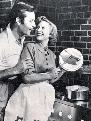 George Montgomery and singer Dinah Shore cooked up a marriage from '43 to '63.