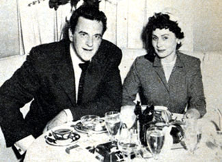 """Gunsmoke"" star James Arness and his wife Virginia had dinner out in 1958. They were married from 1948 to 1963."