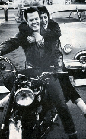 "Married in 1957, ""Trackdown"" star Robert Culp and wife Nancy Asch were both motorcycle enthusiasts."