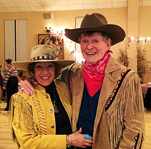 "WC columnist Will ""Sugarfoot"" Hutchins with his wife Barbara ""Babs"" Christensen. They wed in 1988."
