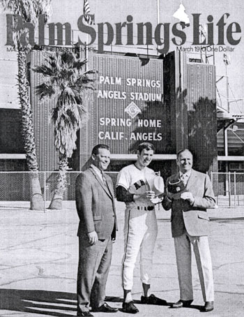 Gene Autry, owner of the California Angels, on the cover of PALM SPRINGS LIFE in March 1970.
