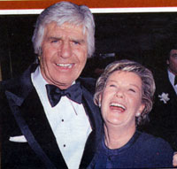 "Appearing at a Hollywood function were Jim Davis (Texas oilman Jock Ewing on ""Dallas"") and his TV wife Miss Ellie, Barbara Bel Geddes."