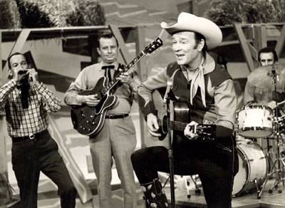 "Roy Rogers sings on ""Hee Haw"" February 9, 1971."