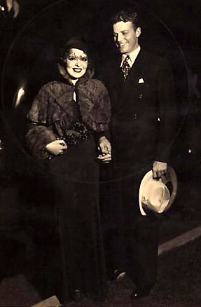 "Rex Bell and his ""It Girl"" wife, Clara Bow. (Thanx to Bobby Copeland.)"