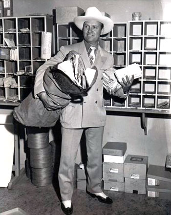 "Gene Autry ""At Mail Call Today."" 1948. (Thanks to Bobby Copeland.)"