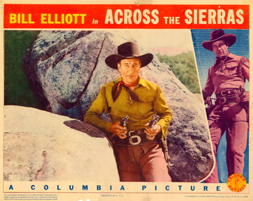 "Title card for ""Across the Sierras""."