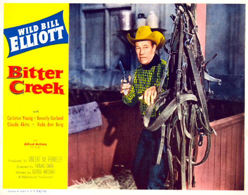 "Title card for ""Bitter Creek"" starring Wild Bill Elliott."