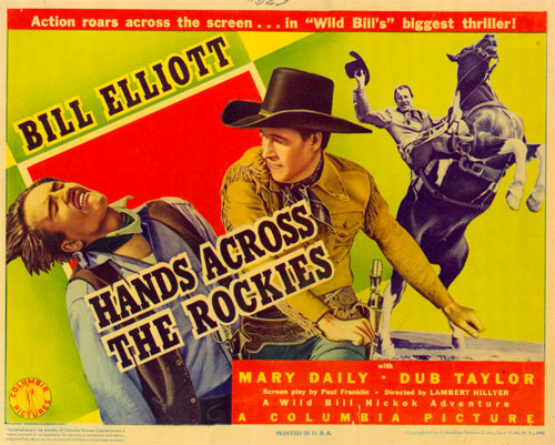 "Title card for ""Hands Across the Rockies""."
