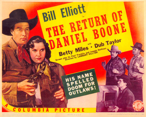 "Title card for ""Return of Daniel Boone""."