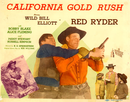"Title Card for ""California Gold Rush""."