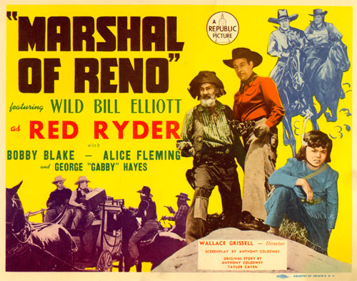 "Title Card for ""Marshal of Reno""."