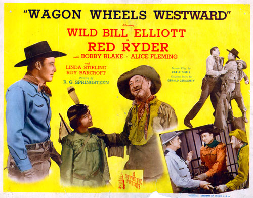 "Title Card for ""Wagon Wheels Westward""."