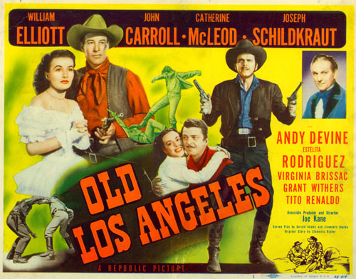 "Title card to ""Old Los Angeles"" starring William Elliott."