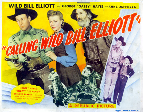 "Title card from ""Calling Wild Bill Elliott""."