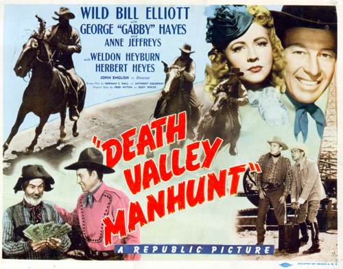 "Title card from ""Death Valley Manhunt""."