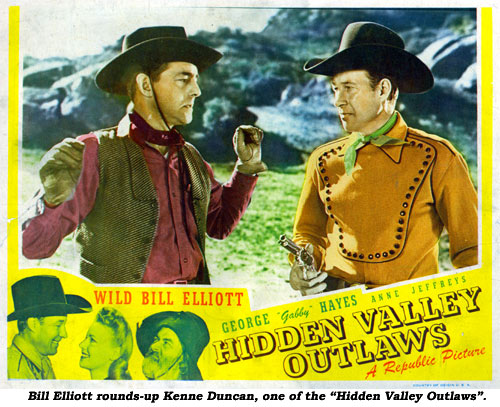 "Bill Elliott rounds-up Kenne Duncan, one of the ""Hidden Valley OUtlaws""."