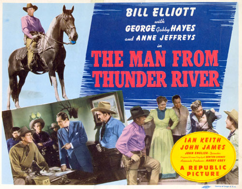 "Title card from ""The Man From Thunder River""."