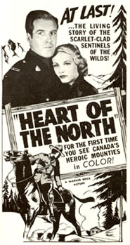 "Newspaper ad for ""Heart of the North"" starring Dick Foran."