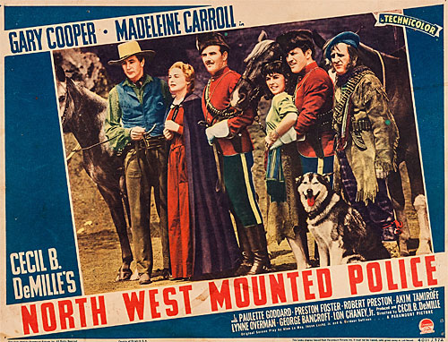 "Title card for ""North West Mounted Police""."