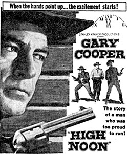 "Gary Cooper in ""High Noon""."