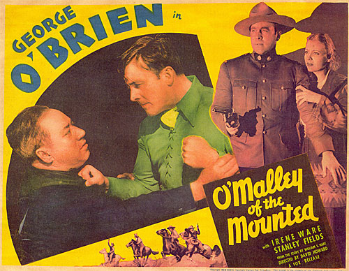 "George O'Brien in ""O'Malley of the Mounted""."