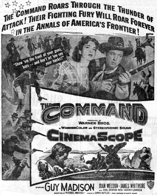 "Newspaper ad for ""The Command""."